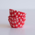 Mini Cherry Red Gingham Cupcake Liners