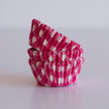 Mini Raspberry Pink Gingham Cupcake Liners