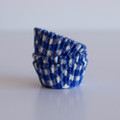 Mini Royal Blue Gingham Cupcake Liners