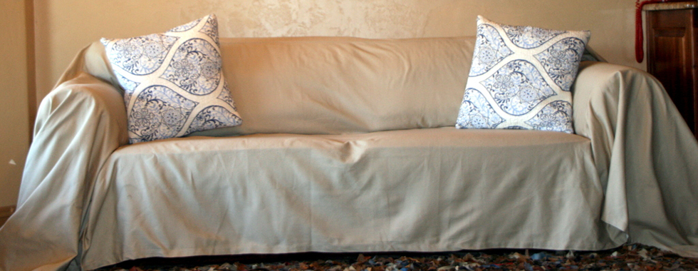 Delightful Dropcloth Slipcovers. Made To Cover Any Ugly Sofa!