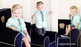 Monkey C. & Monkey Dew Applique'd Ugly-Where Chair - Regular Size - Free Personalization