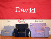 Premonogrammed Regular Size Ugly-Where Chair - David - D47 - Red