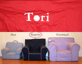 Premonogrammed Regular Size Ugly-Where Chair - Tori - D49 - Red