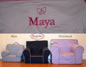 Premonogrammed Regular Size Ugly-Where Chair - Maya - D50 - Light Pink w/ Pink Piping