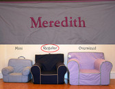 Premonogrammed Regular Size Ugly-Where Chair - Meredith - D53 - Light Pink w/ Pink Piping