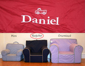 Premonogrammed Regular Size Ugly-Where Chair - Daniel - D163 - Red