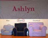 Premonogrammed Regular Size Ugly-Where Chair - Ashlyn - D179 - Light Pink w/ Pink Piping