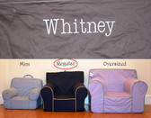 Premonogrammed Regular Size Ugly-Where Chair - Whitney - D312 - Chocolate