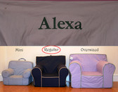 Premonogrammed Regular Size Ugly-Where Chair - Alexa - D359 - Light Pink Pink Piping