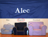 Premonogrammed Regular Size Ugly-Where Chair - Alec - D361 - Navy