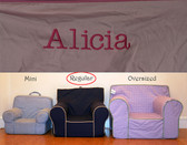 Premonogrammed Regular Size Ugly-Where Chair - Alicia - D385 - Light Pink Pink Piping