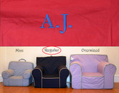 Premonogrammed Regular Size Ugly-Where Chair - AJ - D431 - Red