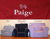 Premonogrammed Regular Size Ugly-Where Chair - Paige - D433 - Red