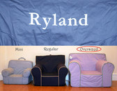 Pre-Monogrammed Large (Oversized) Ugly-Where Chair - Ryland - D486 - Navy