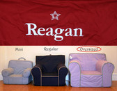 Pre-Monogrammed Large (Oversized) Ugly-Where Chair - Reagan - D491 - Red