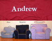 Pre-Monogrammed Large (Oversized) Ugly-Where Chair - Andrew - D499 - Red