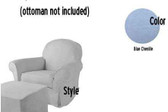 Pottery Barn Kids Dream Rocker Slipcover Set - Light Blue Chenille