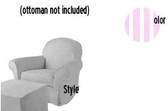 Pottery Barn Kids Dream Rocker Slipcover Set - Light Pink Stripe LInen