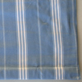"Classic Stripe Light Blue Cordless Roman Shades with Blackout Lining - 64"" Length  - Various Widths"