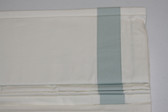 "Grosgrain Ribbon Cordless Roman Shade - Porcelain Blue - 26"" x 64"""