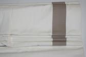 "Grosgrain Ribbon Cordless Roman Shade - Taupe - 26"" x 64"""