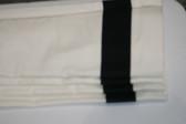 "Grosgrain Ribbon Cordless Roman Shade - Black - 36"" x 64"""