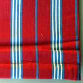 "Classic Stripe Red/blue Cordless Roman Shades w Blackout Lining - 63"" length - Various Widths"
