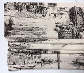 "Fishing Village Cordless Roman Shade - Charcoal - 32"" x 64"""