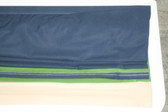 "Rugby Stripe Cordless Roman Shade - Navy/Green- 44"" x 64"""