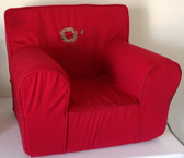 Embroidered 'Swirly Lion' Ugly-Where Chair - Regular Size - Red