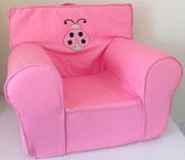 Applique'd 'Lady Bug' Ugly-Where Chair - Regular Size - Pink