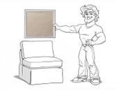 Comfort Sectional Armless Chair Slipcover Set - Box Edge Cushions - Stone Twill