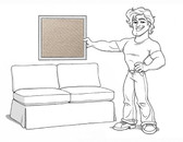 Comfort Sectional Loveseat Slipcover Set - Box Edge Cushions - Stone Twill