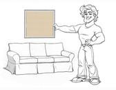Basic Sofa Sleeper Slipcover Set - Honey Brushed Canvas - loc-af04