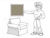 Basic Grand Arm Chair Slipcover Set - Sage Brushed Canvas - AF11