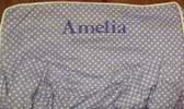Premonogrammed Regular Size Ugly-Where Chair - Amelia - L13 - Lavender Mini Dot