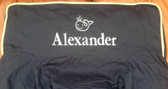 Premonogrammed Regular Size Ugly-Where Chair - Alexander - L57 - Navy, Khaki Piping