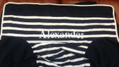 Premonogrammed Regular Size Ugly-Where Chair - Alexander -  L60 - Navy Breton Stripe