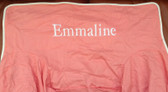 Premonogrammed Regular Size Ugly-Where Chair - Emmaline -  L112 - Coral, White Piping