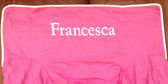 Premonogrammed Regular Size Ugly-Where Chair - Francesca -  L123 - Hot Pink, White Piping
