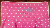 Premonogrammed Regular Size Ugly-Where Chair - Amelia -  L135 - Hot Pink Hearts