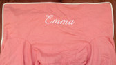 Premonogrammed Regular Size Ugly-Where Chair - Emma -  L144 - Coral, White Piping