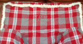 Premonogrammed Regular Size Ugly-Where Chair - Bella -  L153 - Red Plaid, Sherpa trim