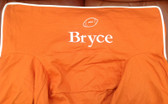 Premonogrammed Regular Size Ugly-Where Chair - Bryce -  L183 - Orange, White Piping
