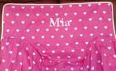 Premonogrammed Regular Size Ugly-Where Chair - Mia -  L184 - Hot Pink Hearts