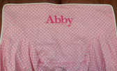 Premonogrammed Regular Size Ugly-Where Chair - Abby -  L193 - Light Pink Mini Dot