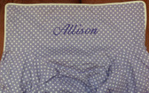 Premonogrammed Regular Size Ugly-Where Chair - Allison -  L195 - Lavender Mini Dot