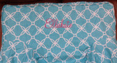 Premonogrammed Regular Size Ugly-Where Chair - Ellakate - L284 - Aqua Lattice Linen