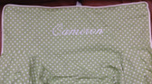 Premonogrammed Regular Size Ugly-Where Chair - Cameron -  L317 - Light Green Mini Dot