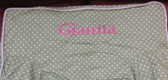 Premonogrammed Regular Size Ugly-Where Chair - Gianna -  L325 - Light Green Mini Dot
